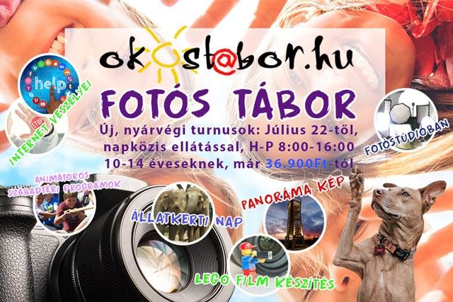 Nyárvégi FOTÓS Napközis tábor 10-14 évesek számára