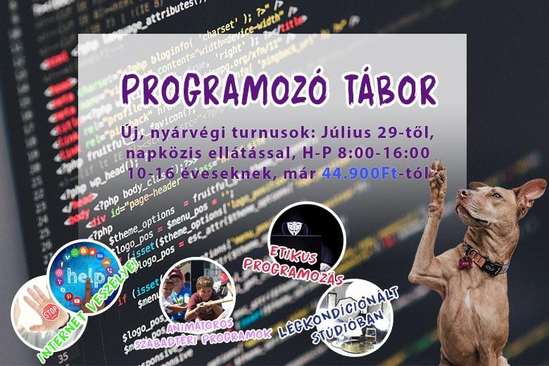 Programozó tábor 10-16 évesek számára